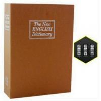 Két ngụy trang bí mật sách từ điển màu vàng nâu, size trung, khóa mã số